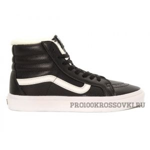 Зимние кеды Vans Old Skool Leather BlackWhite