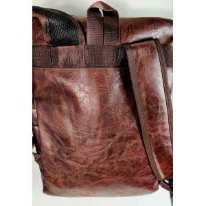 Мужской коричневый кожаный рюкзак Bruno Manchester