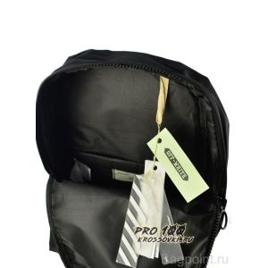 Off-White Black Backpack with Orange Belt