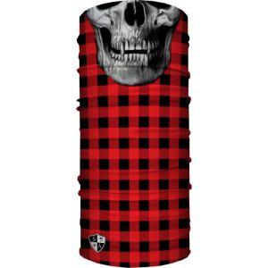 Бандана-бафф с черепом SA Lumberjack-Red