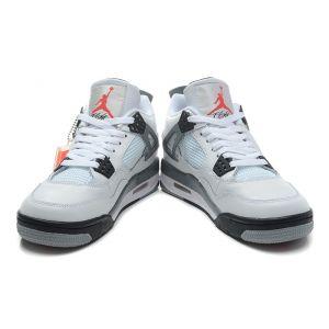 кроссовки Nike Air Jordan IV (4) Retro (белый/серый)