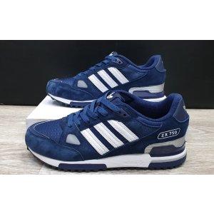 кроссовки Adidas ZX 750 Men Dark blue/White classic