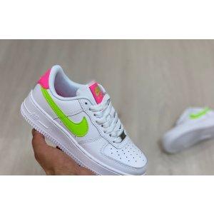 Nike Air Force 1 White Pink Green
