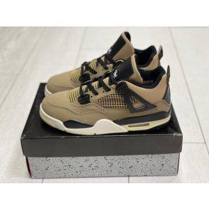 кроссовки Nike Air Jordan 4 Retro светло-коричневые