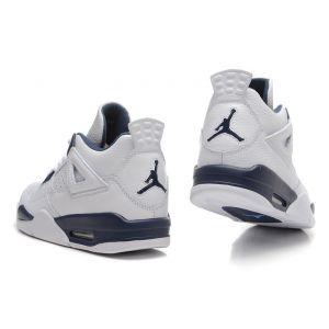 кроссовки Nike Air Jordan 4 Retro (темно-синий/белый)