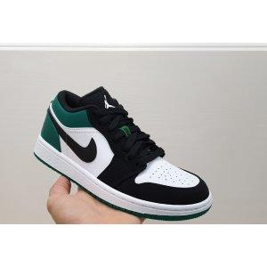 Nike Air Jordan 1 Low White Black Mystic Green