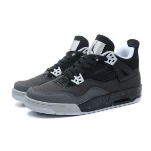 кроссовки Nike Air Jordan 4 Retro (deep black/white)