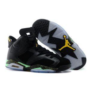 кроссовки Nike Air Jordan 6 Retro Men (Black/Green)