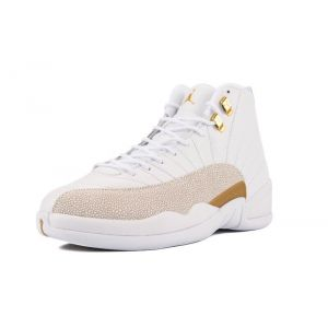 кроссовки Air Jordan 12  Ovo ( White Gold )