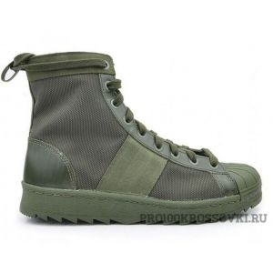 Мужские высокие Adidas Superstar Jungle Boots Green