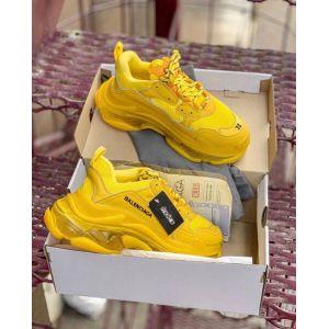 Кроссовки Balenciaga Triple S желтые