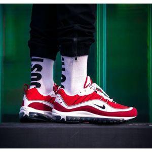 кроссовки Nike Air Max 98 красно-белые