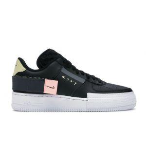 Кожаные кроссовки Nike AF1-Type Low N. 354 Black