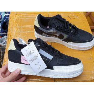 Кожаные кроссовки Nike AF1-Type Low N. 354 черные