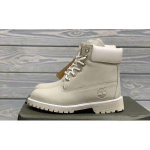 Timberland 6 Inch Premium Waterproof Boots Grey на меху