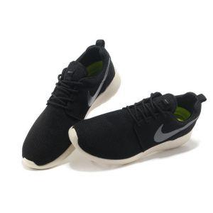 кроссовки Nike Roshe Run Men (Black/Silver/White)