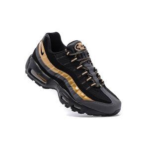 кроссовки Nike Air Max 95 черно-золотые