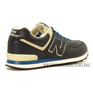 Кожаные кроссовки New Balance 574 Leather ML574LUB
