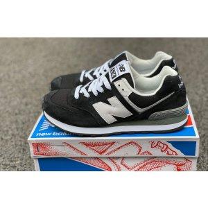 кроссовки New Balance 574 черно-белые