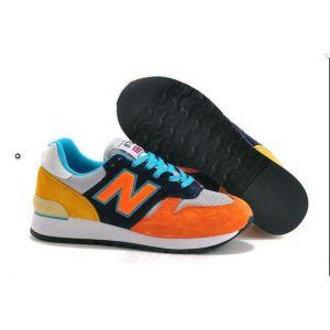 кроссовки New Balance 670 оранжевые с голубым