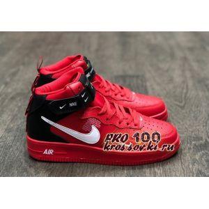 Зимние кроссовки Nike Air Force 1 Mid '07 Red на меху