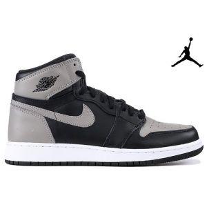 высокие кроссовки Air Jordan 1 Retro High Black-Grey