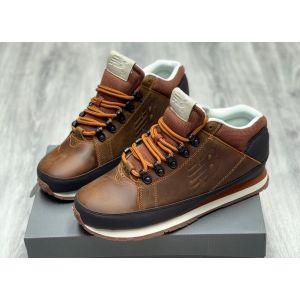 New Balance 754 кожаные коричневые