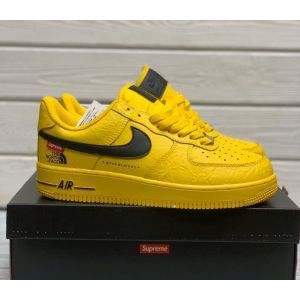 Желтые Nike Air Force 1 x Supreme x The North Face