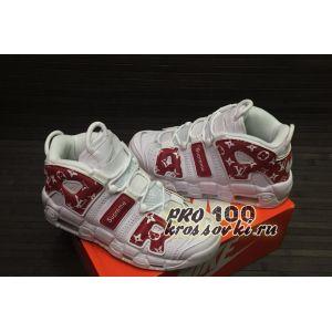 Высокие кроссовки Nike Air More Uptempo White Red