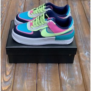Nike Air Force 1 Shadow Barely Volt Oracle Aqua