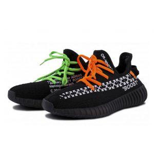 Adidas Yeezy Boost 350 V2 X Off White Custom Black