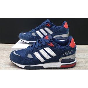 кроссовки Adidas ZX 750 Men (Dark blue/White)