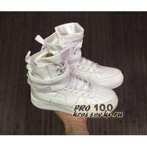 Высокие белые кроссовки Nike SF AF1 Special Field Air Force 1