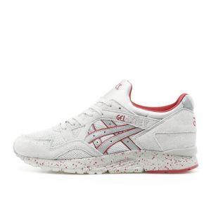 Купить мужские кроссовки Asics Gel Lyte 5 светлосерые с красным