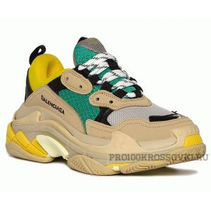 Кроссовки Balenciaga Triple S (Green/Yellow/Beige)