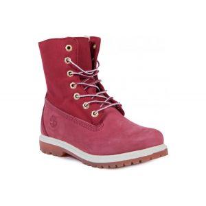 Ботинки на меху женские розовые Timberland Fold-Down Waterproof Boot