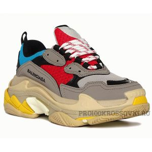 Кроссовки Balenciaga Triple S (Grey/Red/Blue)