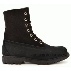 Timberland Women's Teddy Fleece Fold-Down Waterproof Boot Black