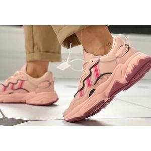 Кроссовки женские Adidas Ozweego розовые