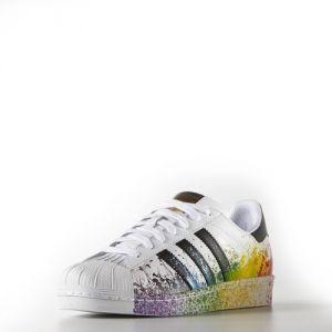 Adidas Superstar радужные