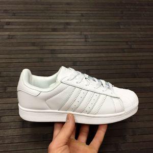 женские белые кроссовки Adidas Superstar