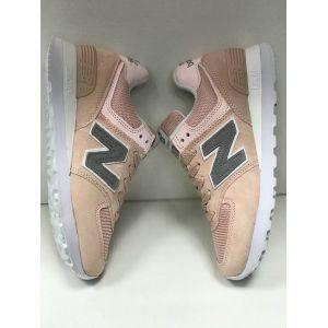 Кроссовки New Balance 574 женские персиковые