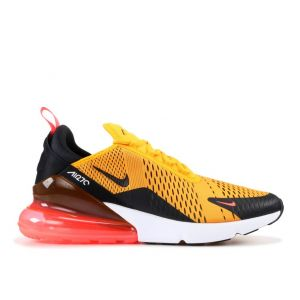 Кроссовки Nike Air Max 270 University Gold Black Orange