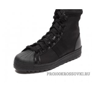 Мужские кроссовки Adidas Superstar Jungle Boots (Black)