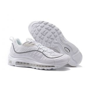 Nike Air Max 98 Supreme  White Silver