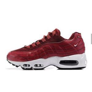 кроссовки женские Nike Air Max 95 бордовые