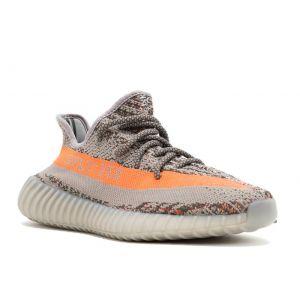 Adidas Yeezy 350 Boost V2 серые с оранжевым