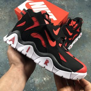 Высокие кроссовки Nike Air Barrage Mid QS University Red/Black-White