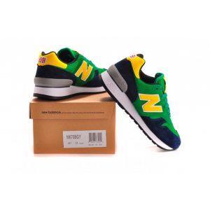 New Balance 670 женские зеленые с желтым