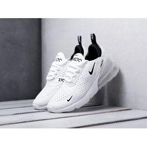 Кроссовки Nike Air Max 270 белые с черным лого